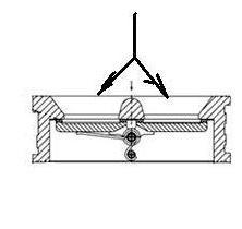 Клапан обратный двустворчатый или двухлепестковый. Схема. разрез.3