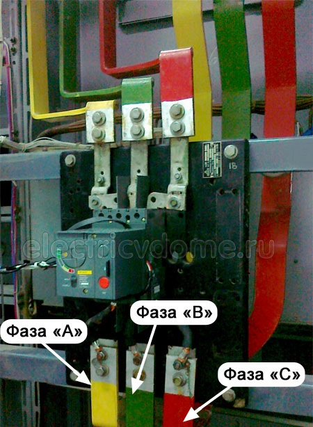 Цветовая маркировка - цвет проводов и шин при переменном трехфазном токе