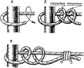 Вязание узлов. Узел «простой штык»