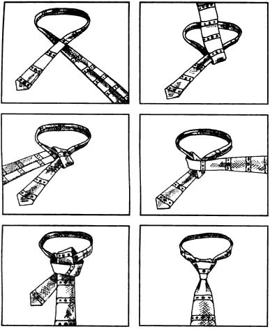 Вязание узлов. Галстучный узел. Нью-классик