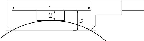 Вычисление диаметра трубы по сегменту (хорде) с использованием штангенциркуля при неполном доступе к трубе с использованием штангенциркуля и проставки 2