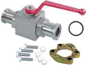 Соединение трубопроводной арматуры на разъемные (двусоставные, двухкусковые, моторные, автомобильные) SAE фланцы = SAE 4-bolt Flanges