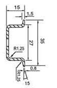 DIN (ДИН) рейка 35мм x 15мм = 35x 15 top-hat deep rail (EN 50022, BS 5584, DIN 46277-3)