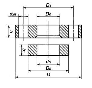 Фланцы свободные на приварном кольце по ГОСТ 12822-80 Ру 6,10,16,25; Ду 15-500 . Дополнительные длины болтов при использовании  одного или двух таких фланцев в соединении.