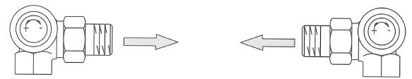 Трехосевой клапан (левое и правое присоединение)