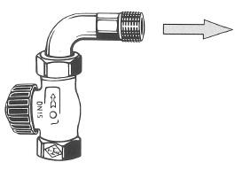 Проходной клапан с коленом с коленом