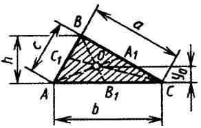 Вычисление размеров плоской фигуры: Треугольник.
