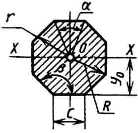 Вычисление размеров плоской фигуры:  Правильный многоугольник.