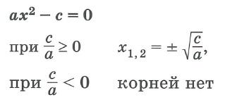 Квадратные уравнения и неравенства. Решение неполных квадратных уравнений - третий случай