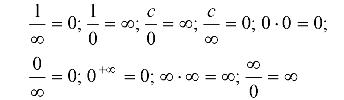 Виды определенностей при вычислении пределов