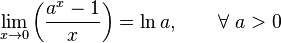 Значимые специальные пределы 7 Таблица пределов функций