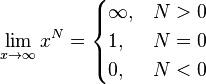 Пределы при стремлении переменной к бесконечности 3. Таблица пределов функций