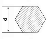 Справочные таблицы веса металла - Шестигранник.