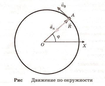 Движение по окружности. Уравнение движения по окружности. Угловая скорость. Нормальное = центростремительное ускорение. Период, частота обращения (вращения). Связь линейной и угловой скорости