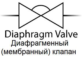 Мембранный или диафрагменный клапан - символ для P&ID